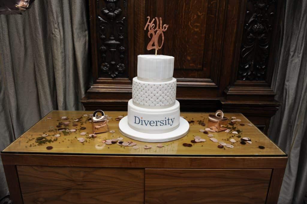 Diversity birthday cake